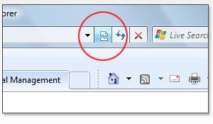 IE 8 Compatibility Button