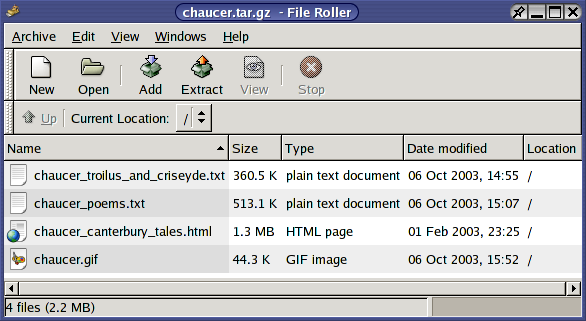 how to open archive files